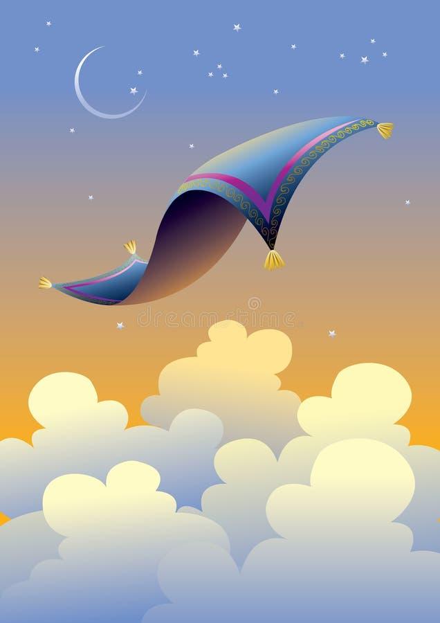 (1) dywanowa latająca magia ilustracja wektor
