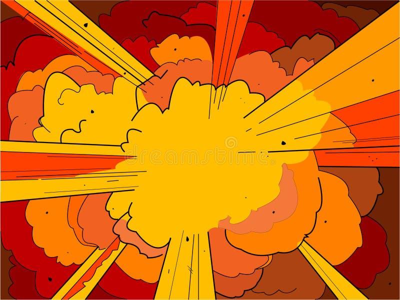 1 eksplozję royalty ilustracja
