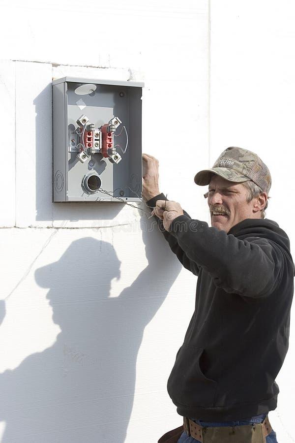 1 electricial installation arkivfoto