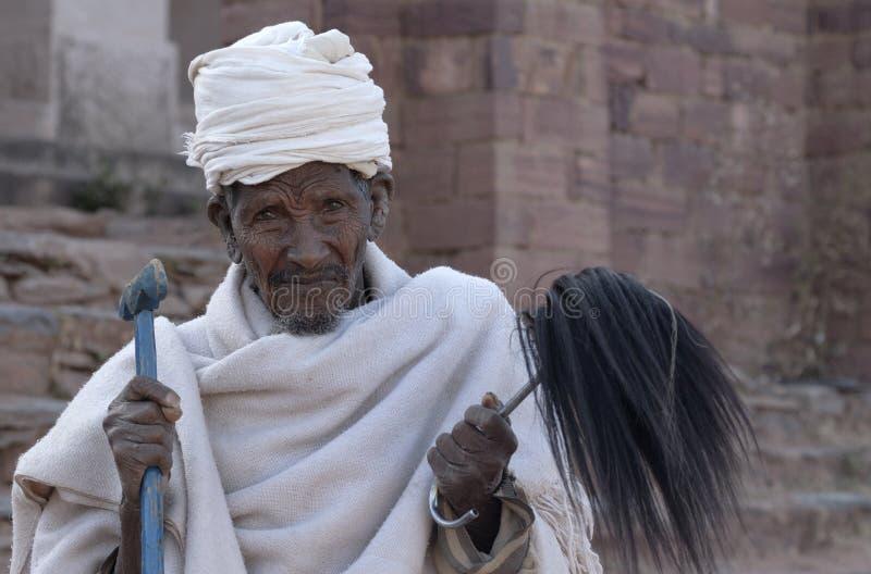 1 ethiopian präst arkivbilder