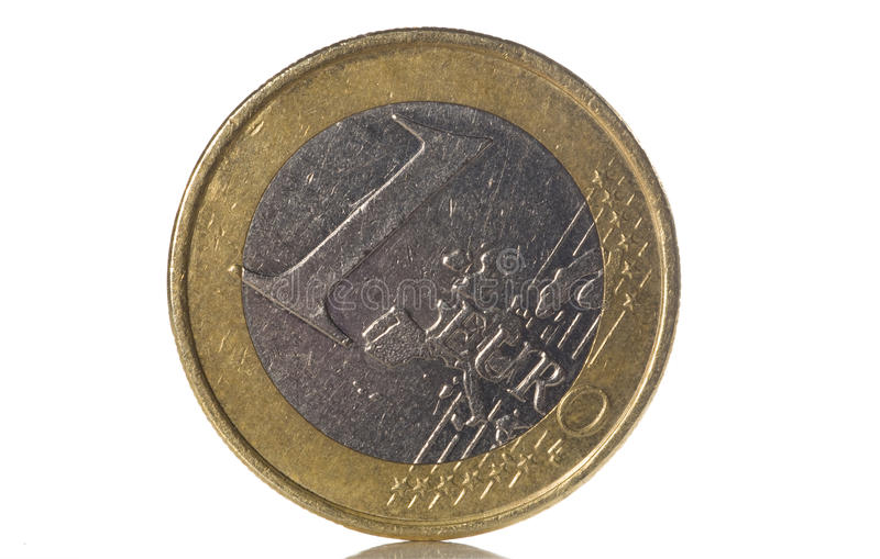 Download 1 euro coin stock photo. Image of number, white, european - 10449566