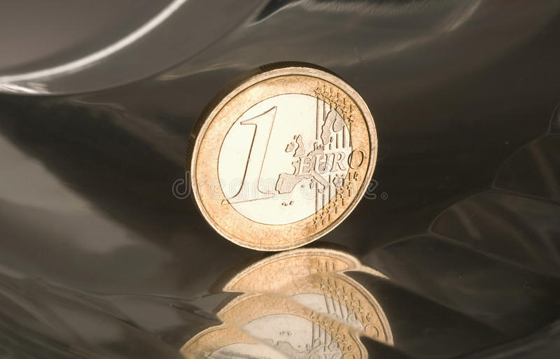 1 euro coin. This is 1 euro coin stock images