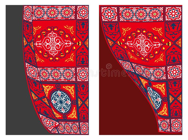 1 för tygstil för gardin egyptiska tent royaltyfri illustrationer