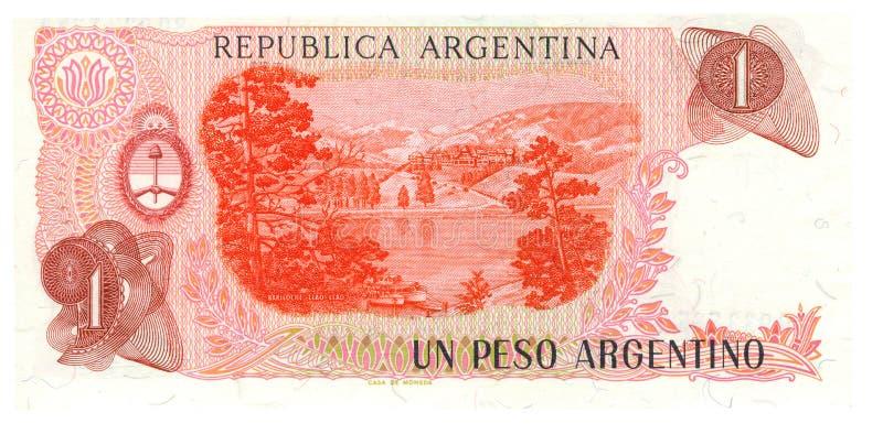 1 facture de peso de l'Argentine photos libres de droits