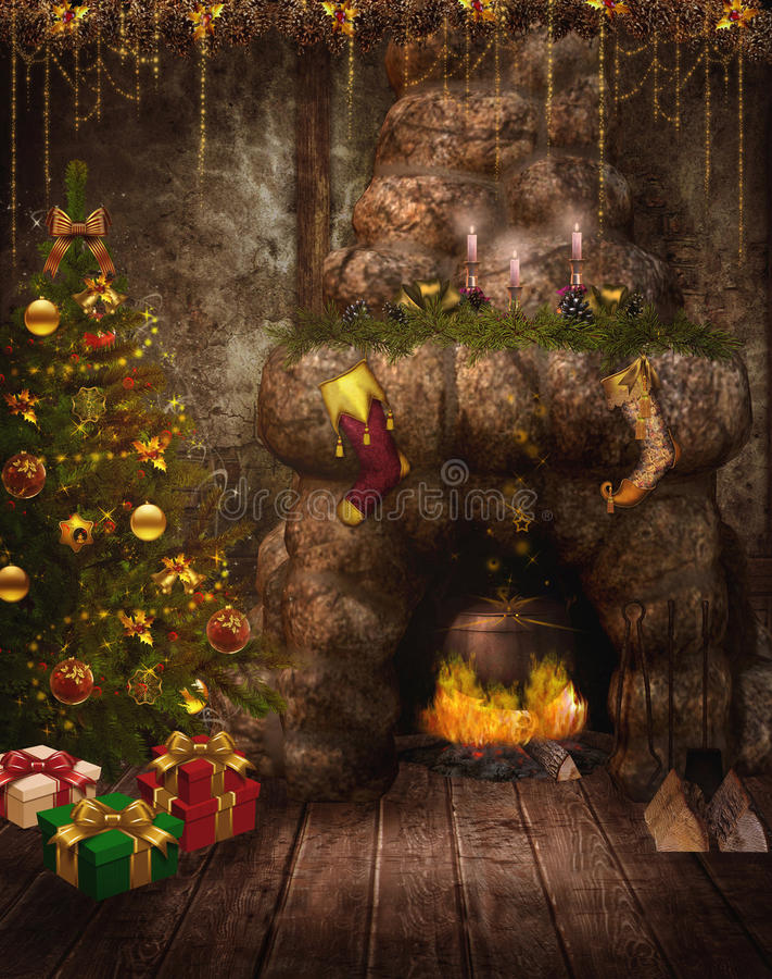 1 fairy комната фантазии иллюстрация штока