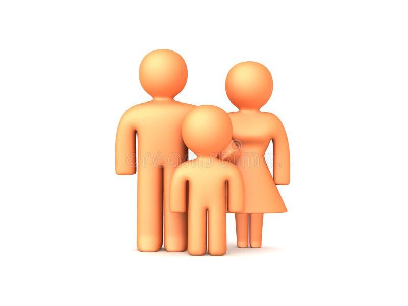 1 familj 3d stock illustrationer