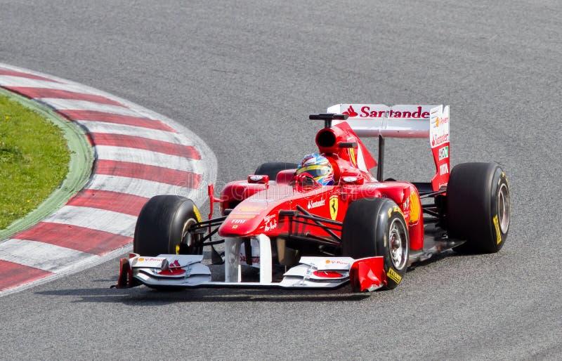 (1) Ferrari formuły uroczysty prix spanish fotografia royalty free