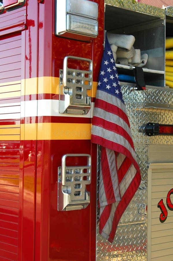 1 firetruck arkivfoton