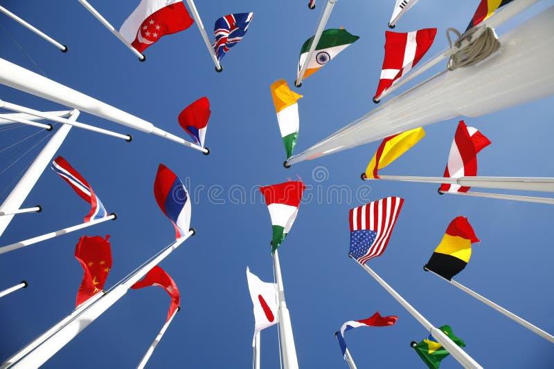 1 flaggavärld arkivbild