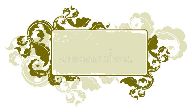 1 floral τρύγος πλαισίων διανυσματική απεικόνιση