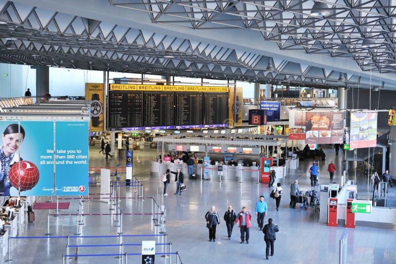 1 flygplatsfrankfurt terminal royaltyfria foton
