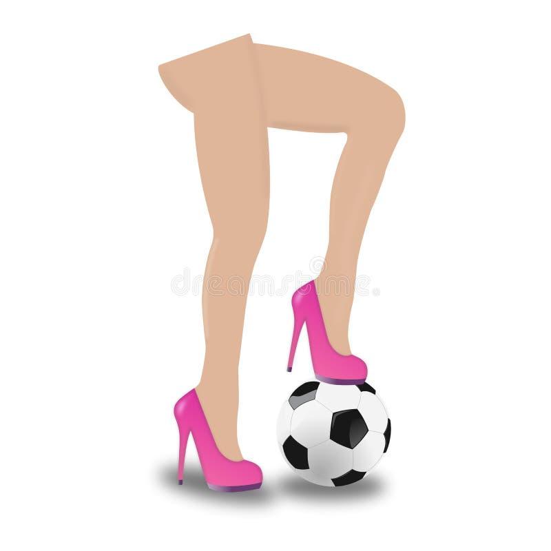 1 fotbollkvinna stock illustrationer