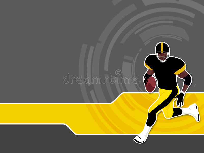 1 futbol amerykański ilustracja wektor