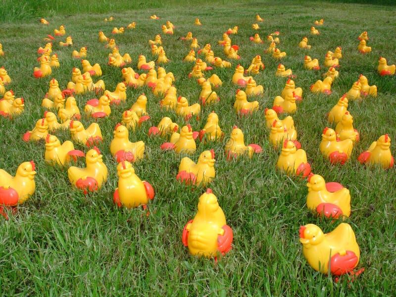1 galna plast- för fågelungar royaltyfri illustrationer