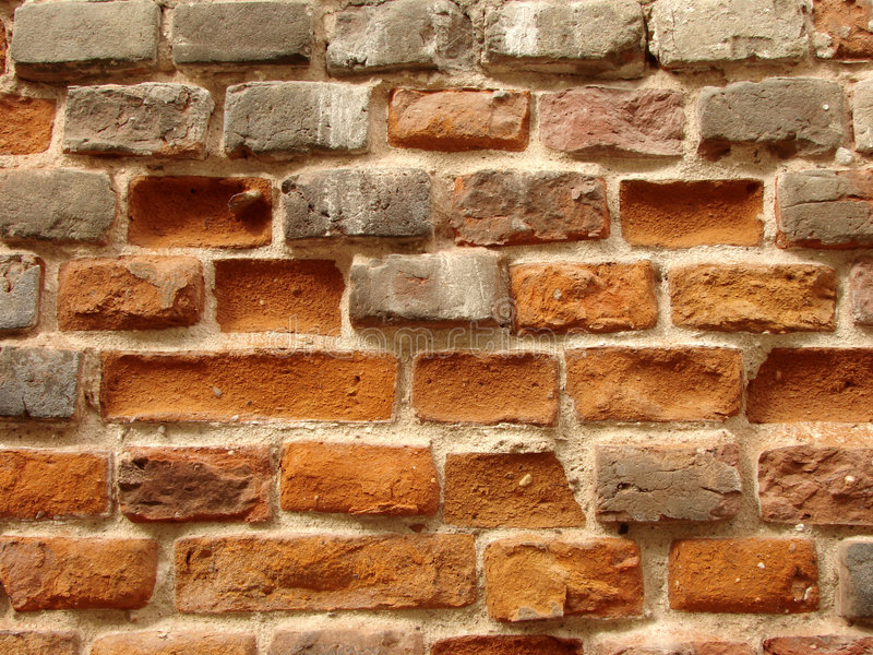 1 gammala brickwall arkivfoto