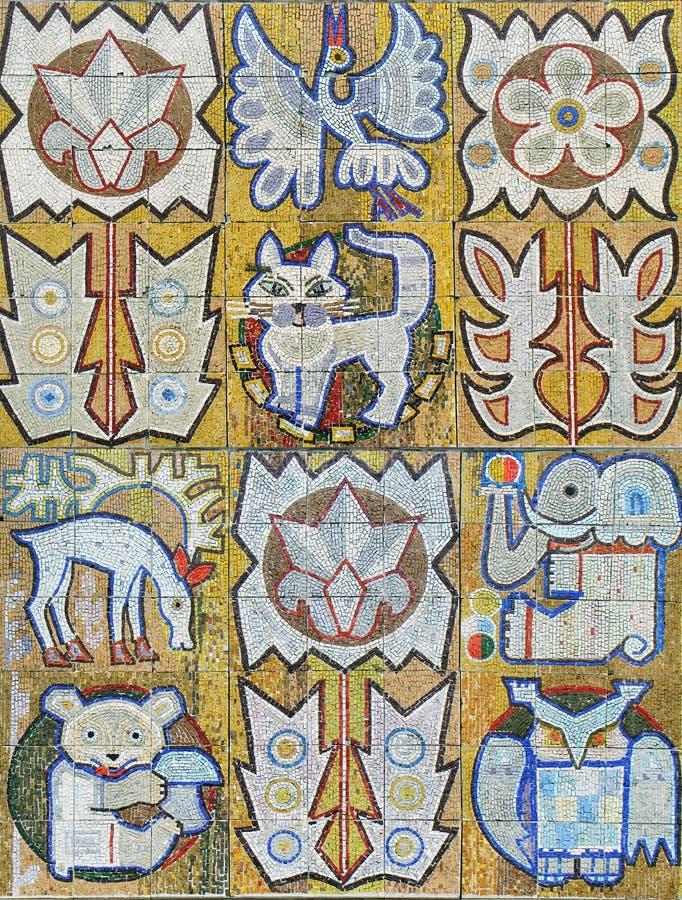 1 gammala patchwork royaltyfri foto
