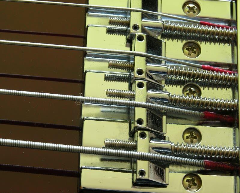 1 gitara elektryczna bas bridge zdjęcie royalty free
