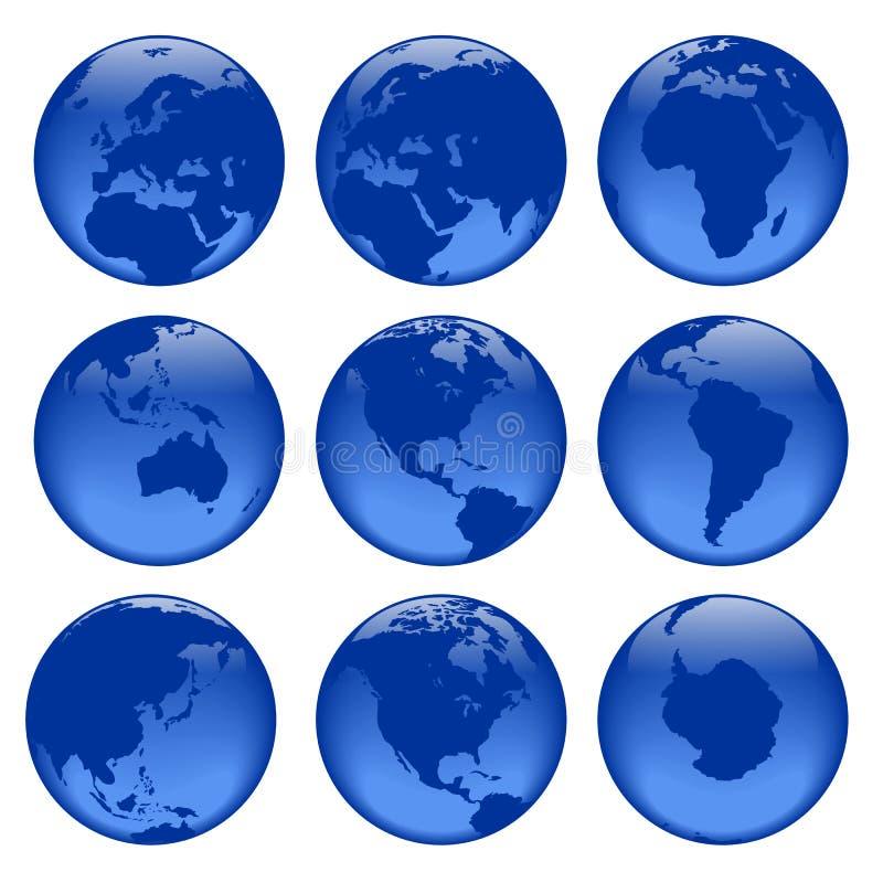 1 globe poglądów ilustracji