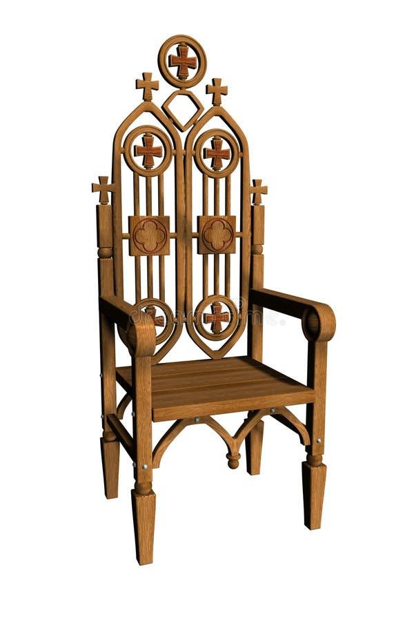 1 gotiska stol royaltyfria foton