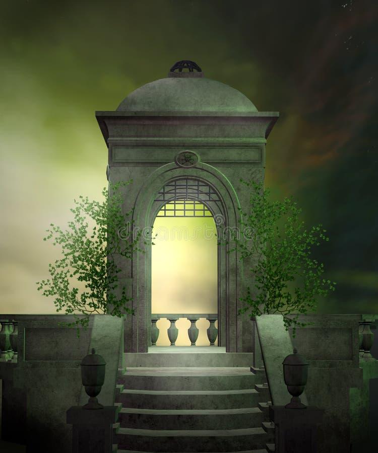 1 gröna landskap stock illustrationer
