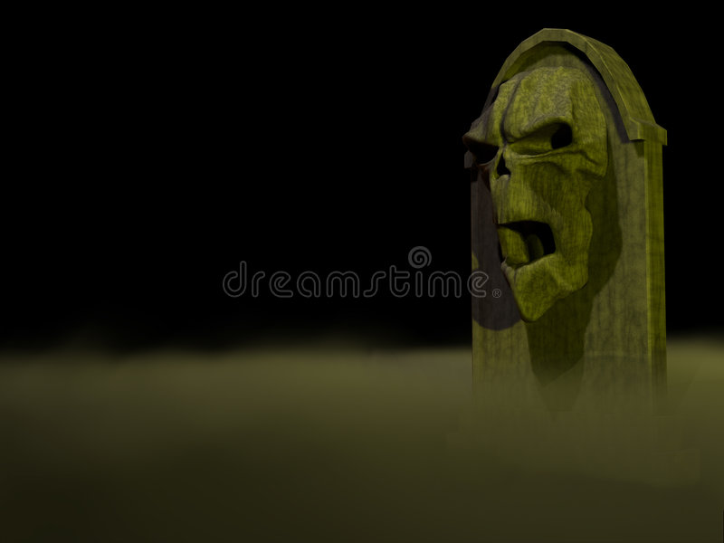 1 gravestone vektor illustrationer