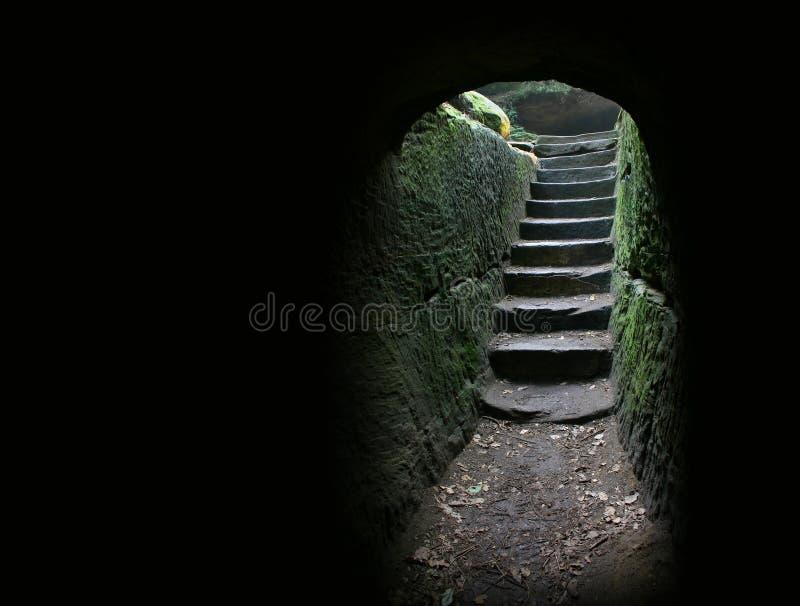 1 grottautgång arkivfoto