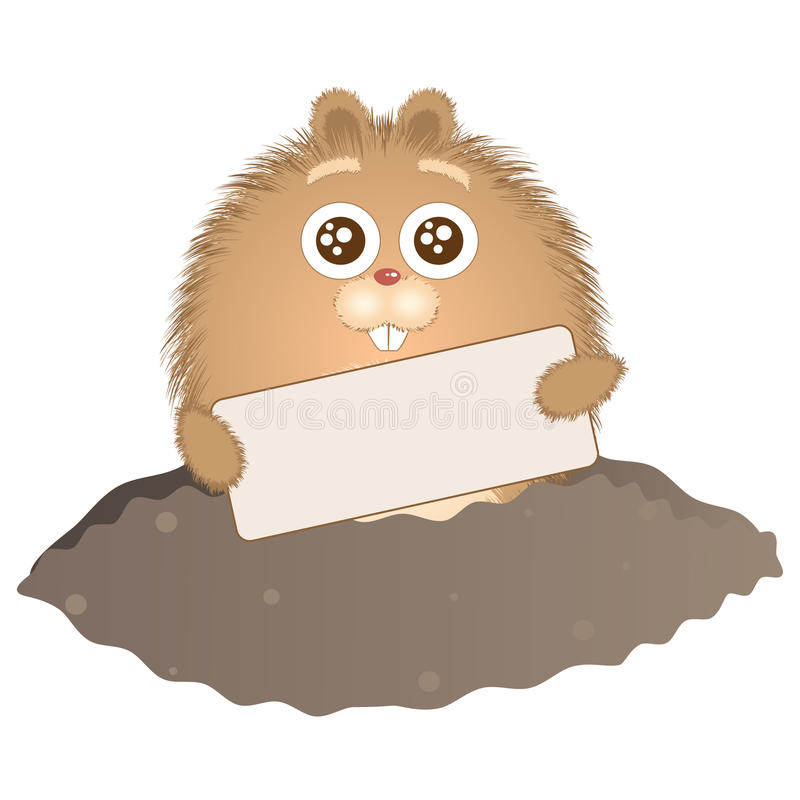 1 groundhog дня иллюстрация штока