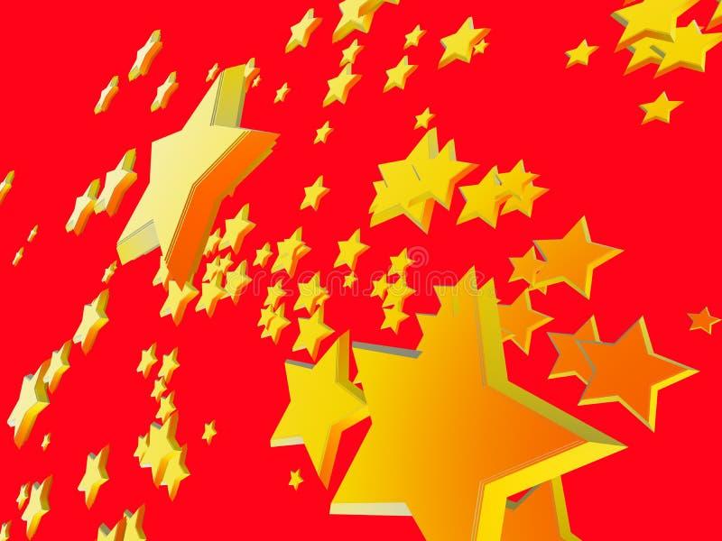 1 gwiazdy tła ilustracja wektor