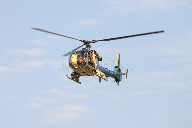 1 Helikopter Royaltyfri Fotografi