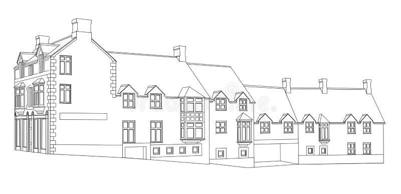 1 husplansikt vektor illustrationer