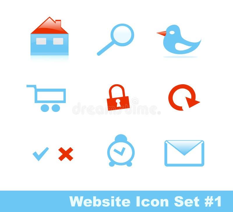 (1) ikony część ustalona elegancka strona internetowa ilustracja wektor