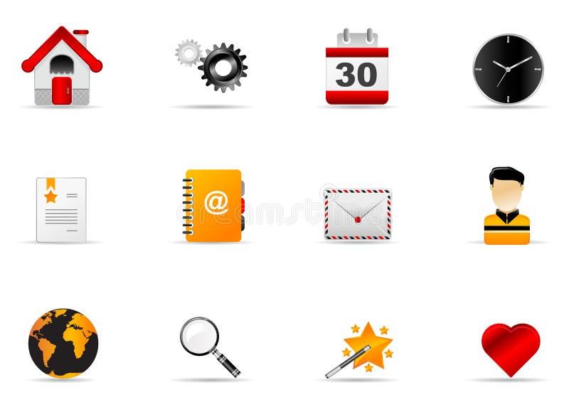 (1) ikony internetów melo ustalona strona internetowa royalty ilustracja