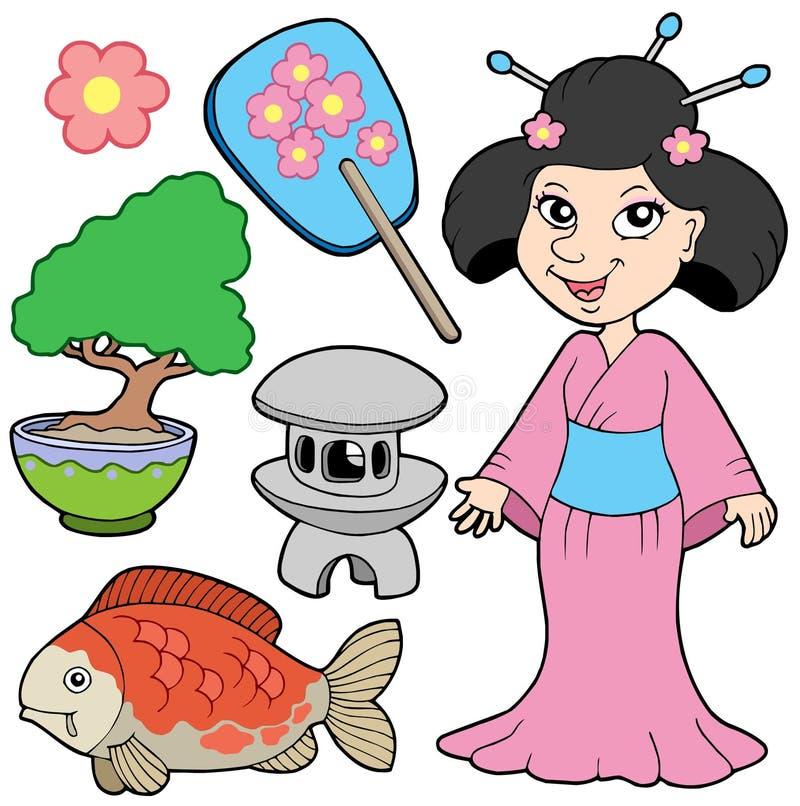 (1) inkasowy japończyk ilustracja wektor