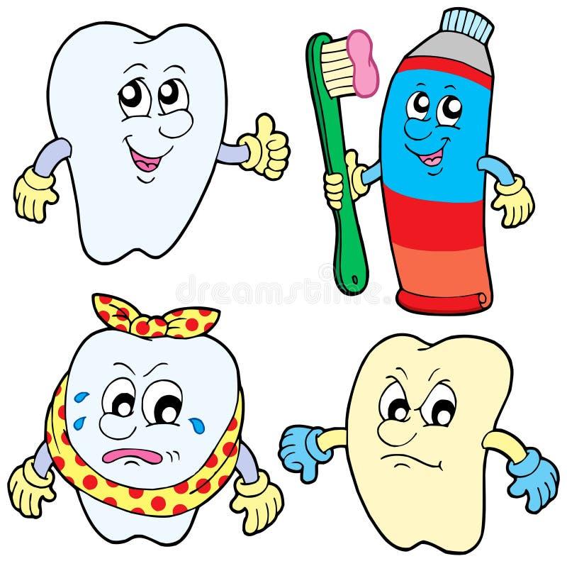 (1) inkasowy ząb ilustracja wektor