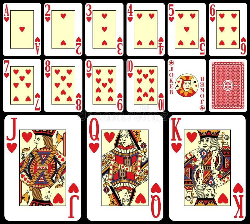 1 jeu de cartes de vingt-et-un illustration stock