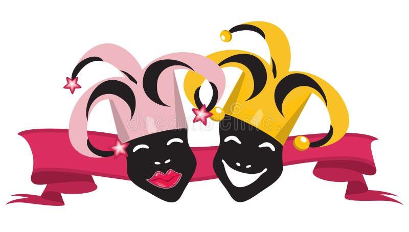 (1) jokery royalty ilustracja