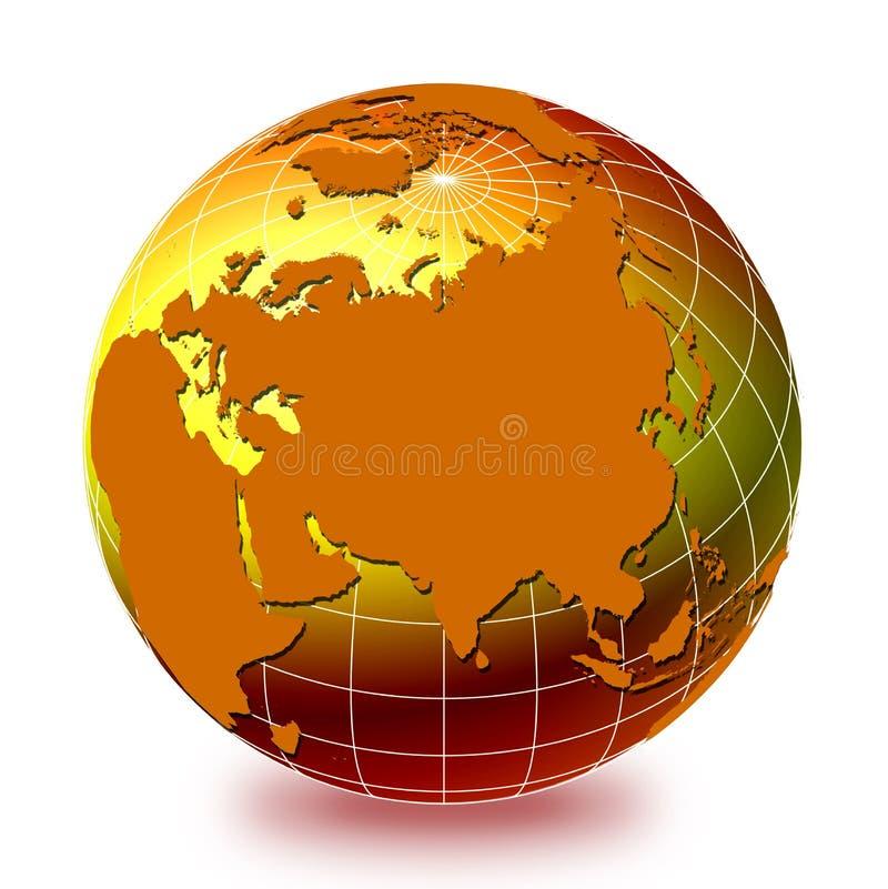 1 jordklotvärld stock illustrationer