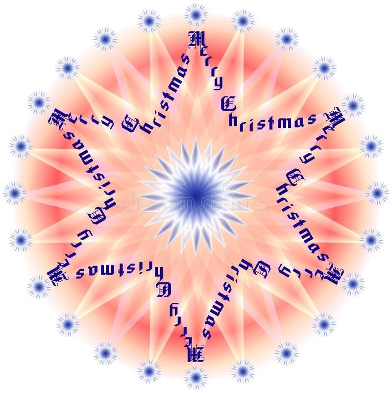 1 joyeuse étoile de Noël illustration libre de droits