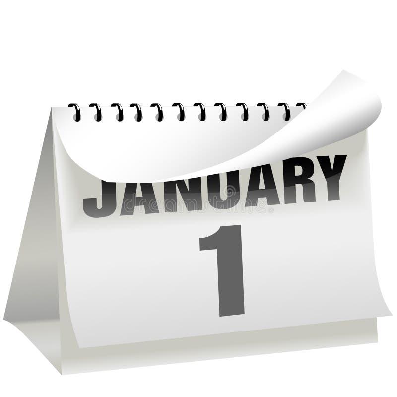 (1) kalendarzowego dzień Styczeń nowa strona obraca rok