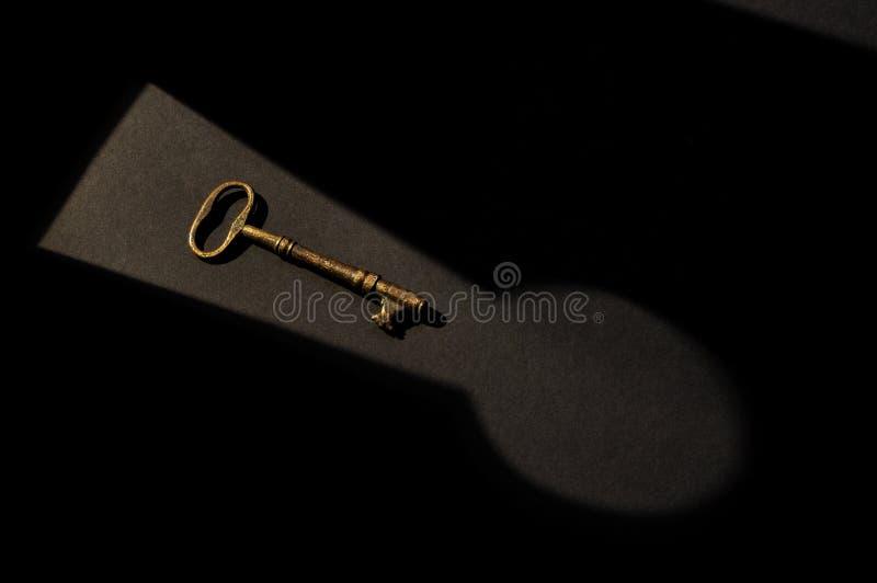 1 key lås arkivbild