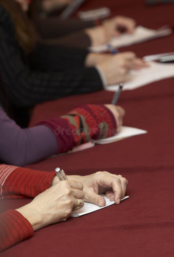(1) konferencyjny writing obrazy stock