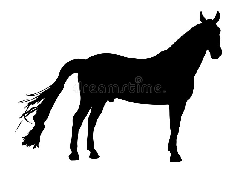 1 konia ilustracja wektor