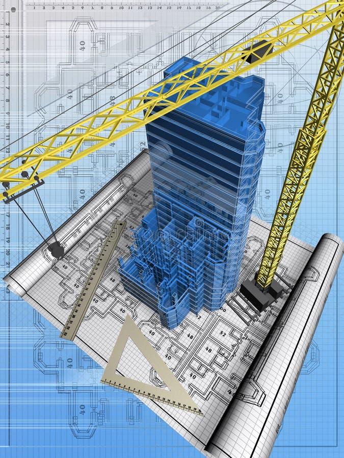 1 konstruktion vektor illustrationer