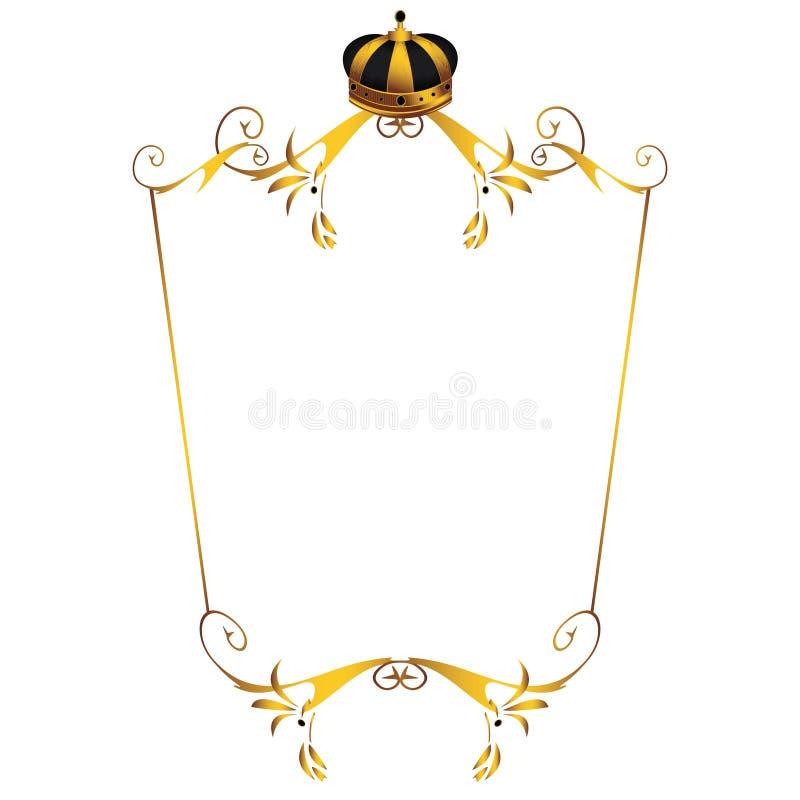 (1) korony złota wizerunek ilustracja wektor
