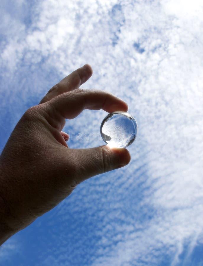 1 kryształowej kuli fotografia stock