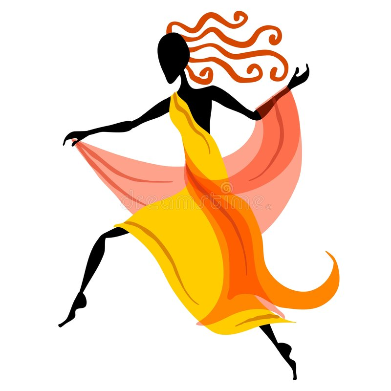 1 kvinnliga diagram för dansare royaltyfri illustrationer