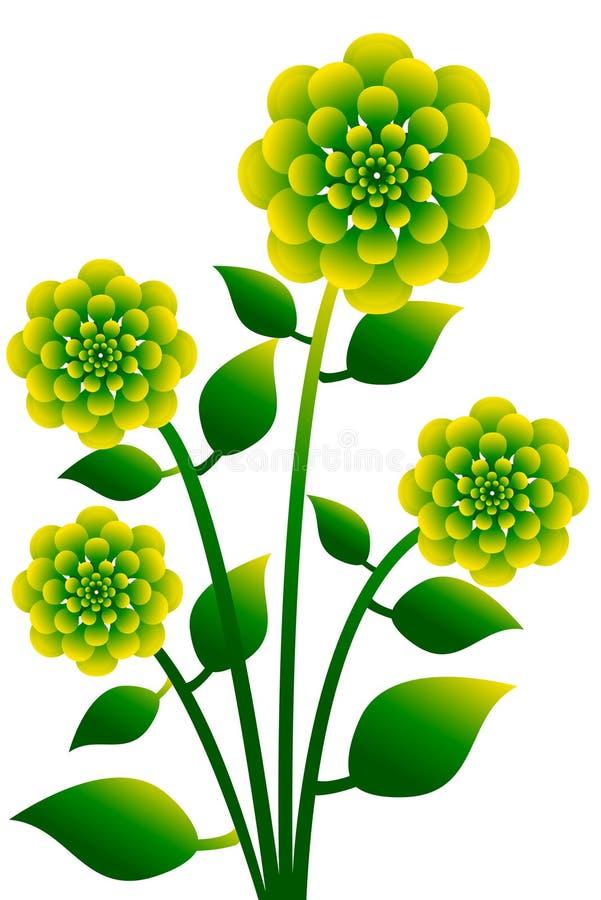 1 kwiat royalty ilustracja