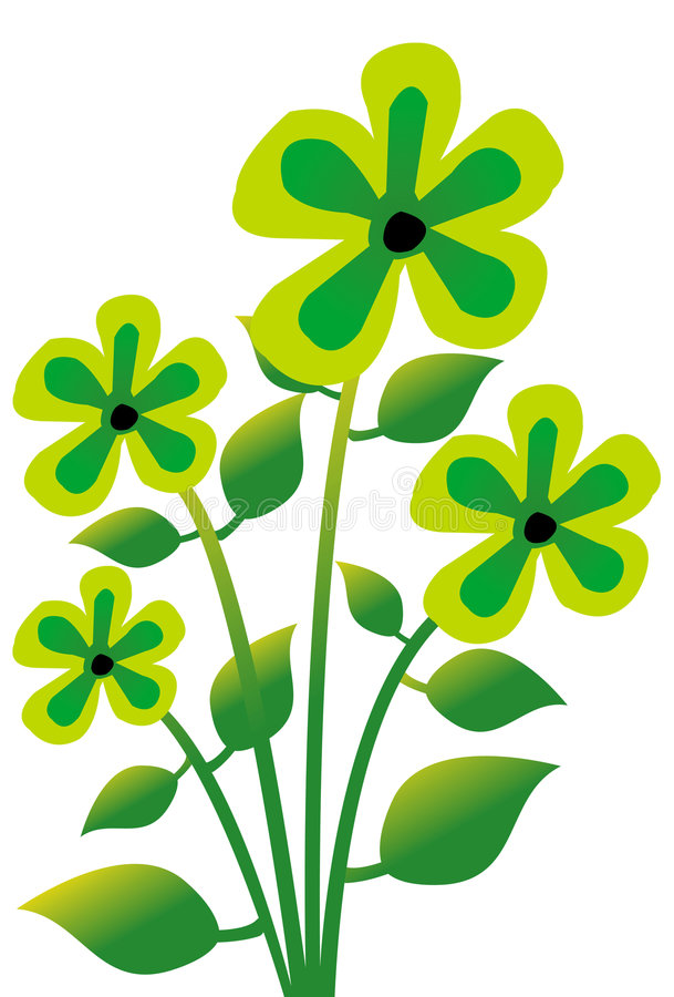 1 kwiat ilustracja wektor