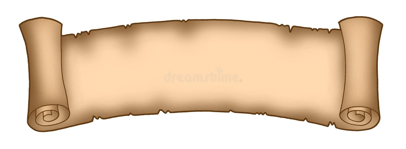1 långa parchment vektor illustrationer