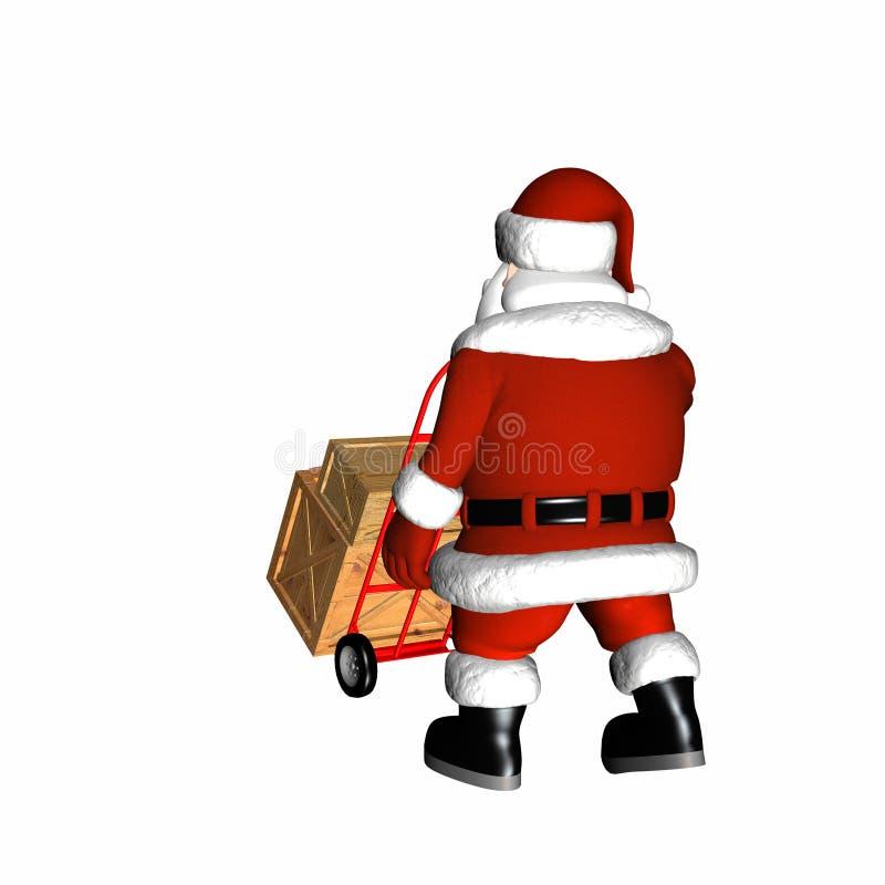 1 leverans santa stock illustrationer